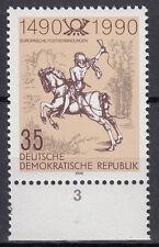 DDR 1990 Mi. Nr. 3299 mit Rand Postfrisch (26838)