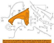 BMW OEM 11-16 X3 Wiper Washer-Windshield Fluid-Reservoir Tank 61667255827