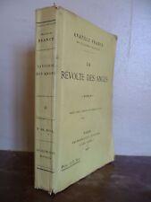 ANATOLE FRANCE LA REVOLTE DES ANGES C.LEVY PARIS 1925 BROCHE ABE IN 12