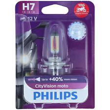 H7 PHILIPS CityVision Moto - 40% Mehr Licht Vibratrionsfest Effekt NEU