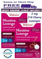 2 Pack Walgreens Nicotine Lozenge 2 Mg 108 Ct Cherry Flavor Compared Nicorette