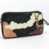 LOUIS VUITTON Black Monogram Satin Conte De Fees Handbag Hand Tote Bag M92275
