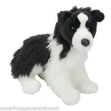 """CHASE Douglas 12"""" long plush BORDER COLLIE DOG stuffed animal cuddle toy"""
