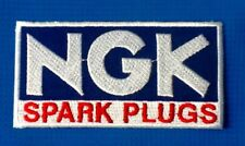 NGK SPARK PLUGS MOTOR RACING TEAM  SOW SEW IRON ON EMBROIDERED PATCH BADGE