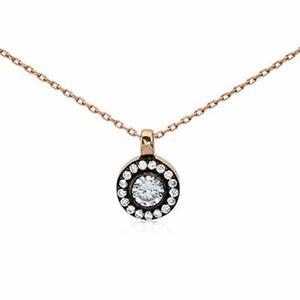 "$80 20"" Art Deco Rose Gold Necklace 925 Silver Turkish Handmade Women Jewelry"