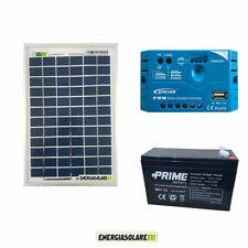 Kit acampada libre panel solar 10W 12V batería 7Ah móvil luz Estéreo radio