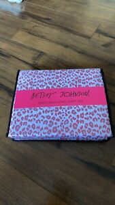 Betsey johnson pink leopard twin XL sheets