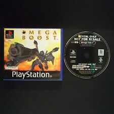OMEGA BOOST PlayStation UK PAL English・♔・BLOCKBUSTER EX RENTAL complete PS1 PSX