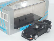 1:43 Minichamps 1995 Porsche 911 Carrera RS type 993 Boxed Diecast black rare