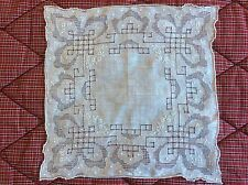 Stunning Vintage appenzell work handkerchief, hankie, delicate embroidery