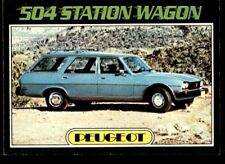 Topps Autos of 1977 - Peugeot 500 Station Wagon No. 77