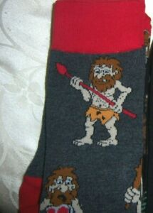 MENS ladies plus novelty trouser dress socks CAVEMAN