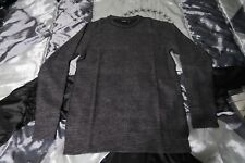 Pink Dolphin Heavy Gauze Longsleeve Tee Shirt in Gray Charcoal Size Small