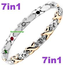 TITANIUM Magnetic GERMANIUM Energy Armband Power Bracelet JADE 7in1