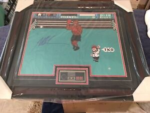 Mike Tyson Punch Out Autographed 16x20 Framed w/ Controller Steiner COA Signed