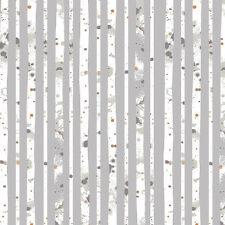Art Gallery ~ Blithe Glacier Path Silver Fabric / quilting grey stripe metallic