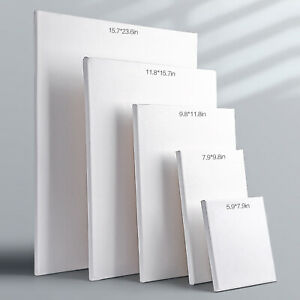 """Pre Cotton Stretched White Blank Painting Canvas Panels 5/8"""" Profile Primed"""