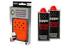 ZIPPO Handwärmer + 2 Pullen Benzin Taschenofen NEU+OVP orange Taschenwärmer