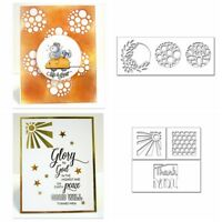 Metal Cutting Dies Row Circle Square Background Stencil Gift Card DIY Handcrafts