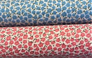 Floral Printed Poly Cotton Fabric Small Ditsy Sewing Craft Material Width 110 cm