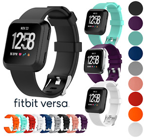 for Fitbit Versa Smart Watch Replacement Strap Band Wristband Metal 1 2 & Lite