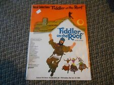 Vintage 1964 1971 Vocal Selections FIDDLER ON THE ROOF on screen Film Song Book
