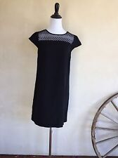 ZARA Short Sleeve Black Lace Career Party Sheath Cocktail Dress M New w/ Tags!!!