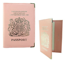 Real Leather Passport Holder - Pink