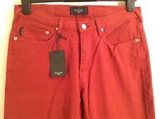 BNWT 100% Auth Paul Smith, Mens Red Taper Fit Jeans. 30 RRP £185.00