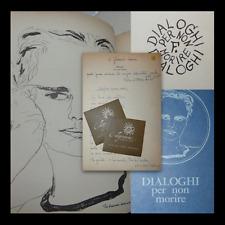 POESÍA Elio Flores: Discusión sobre cómo no morire 1964 dedicación autor