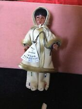Canadian Native Indian Handicraft Inuit Eskimo Doll Superb Condition With Tag