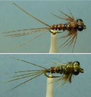 Artflies Pheasant Tail Mayfly Clinger Nymph  ~ Choose Patterns, Sizes and Qty ~