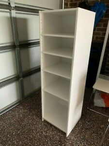 White Storage Unit / Bookcase with 4 Adjustable Shelves; Home Office; great cond