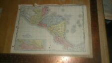 Rand Mcnally 1895 Original Map -Central America - Proposed Nicaragua Canal