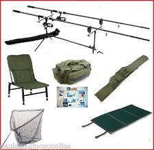 Carp Fishing Set Kit Rods Reels Alarms Chair Rod Pod Net Rod Bag Carryall Tackle