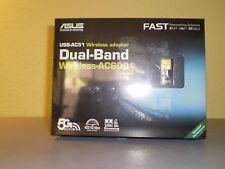 ASUS USB-AC51 Dual Band Wireless AC600 Wi-Fi USB 2.0 Adapter 802.11ac Retail