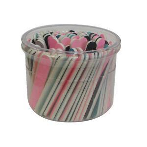 "Assorted 3-1/2"" Mini Grit Cushioned Washable Beauty Salon Spa Nail Files"