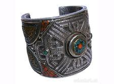 Elegant orient tibetischer 925 Silber armreifen tibetan Nepal bracelet No-15