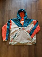 Miami Dolphins Columbia Pullover Jacket Size Large Vintage Not Starter Rare EUC