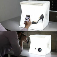 "MiniPhoto Studio Photography Tent Kit 9"" Backdrop Cube Box Built-in Light RoomRA"