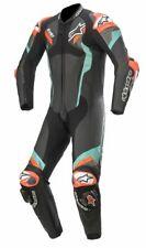 Alpinestars Atem v4 Leather 1 Pc BLACK PETROL RED FLUO Track Day / Sports Riding