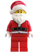 LEGO Santa Claus Black Belt Red Beanie Hat Beard Christmas Holiday NEW