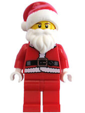 LEGO Santa Claus Black Belt Red Beanie Hat Beard Christmas Holiday NEW