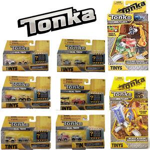 TONKA TINY BUILT TO LAST BLAST AND DASH QUARRY CAR CRUSH ESCAPE PLAYSET VEHICLES