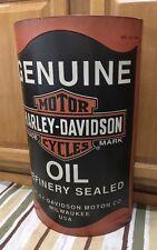 Harley-Davidson Motorcycles Motor Oil Can Metal Bike Helmet Oil Vintage Style 9