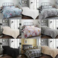 Seersucker Ruched Non Iron Duvet Quilt Cover Pillowcases  Bed Linen Bedding Set