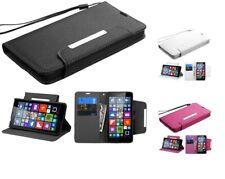 Book Style MyJacket Wallet Cover Case w/Wristlet for Nokia Lumia 640