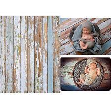 Vinyl Wooden Floor Backdrop Newborn Baby Kid Photo Studio Background Props 5x3FT