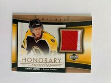 2005-06 Upper Deck Trilogy Honorary Swatches #HSBL Brian Leetch - Boston Bruins