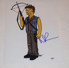 Norman Reedus Signed 11x14 Photo THE WALKING DEAD The Simpsons PSA/DNA COA